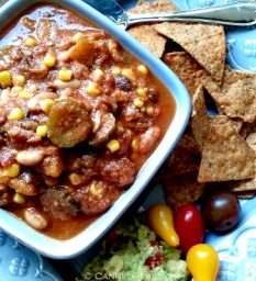 Very Veggie Chili - w/ Homemade Vegetable Stock Powder - from Canned-Time.com