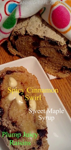 Maple Syrup Cinnamon Raisin Bread - Canned-Time.com